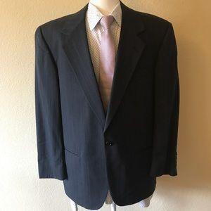 Perry Ellis Porfolio charcoal pinstripe blazer 38S